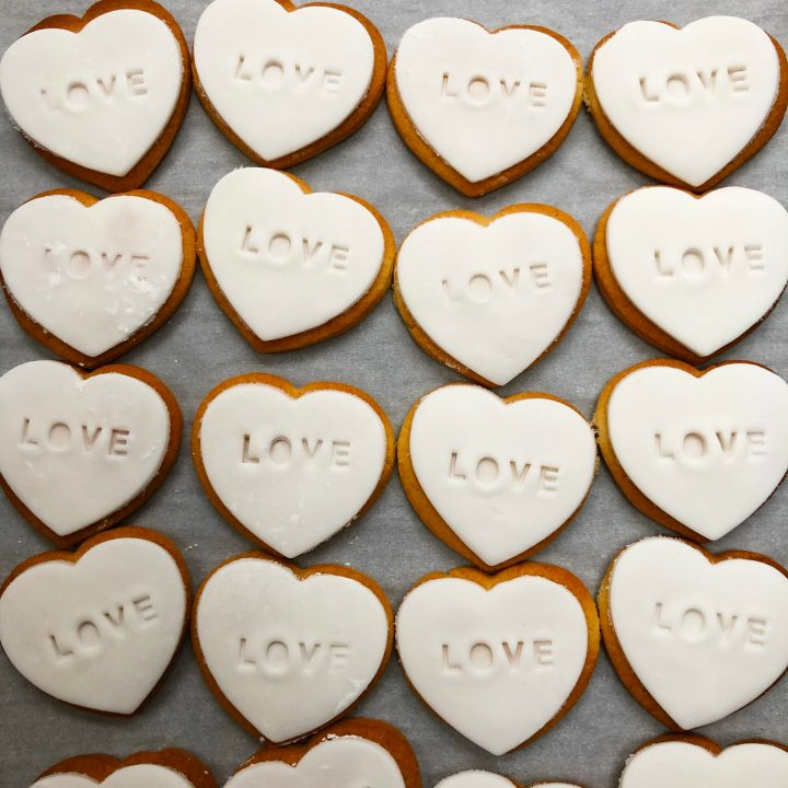 Embossed Heart Cookies