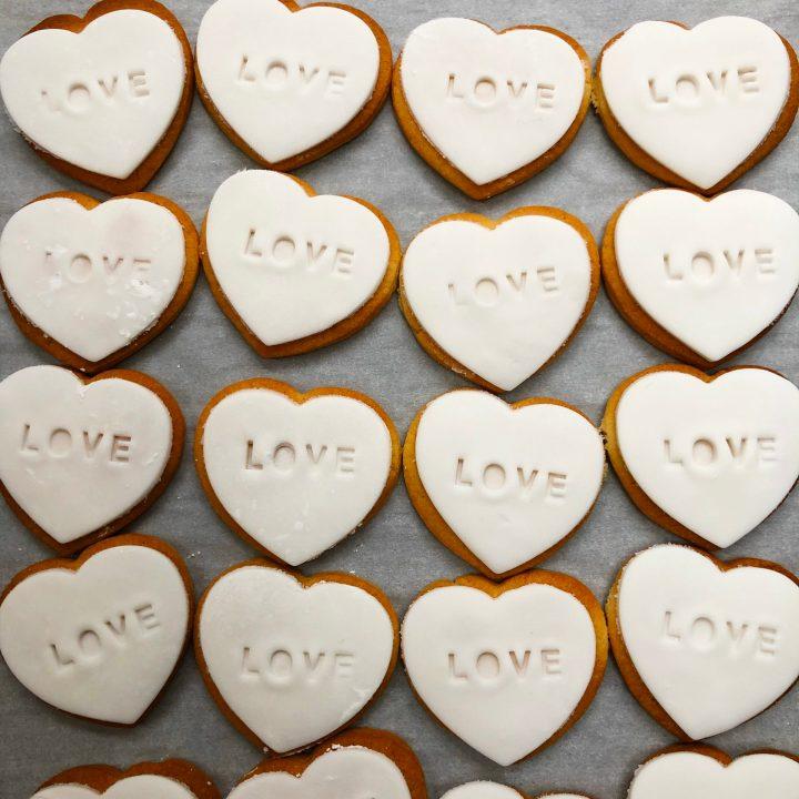 Embossed Heart Cookies