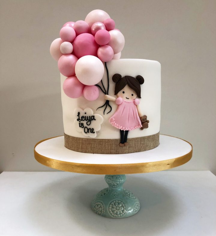 Girl and Balloon Cake