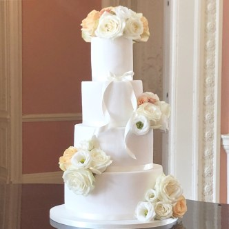 Vertical Ridge Wedding Cake