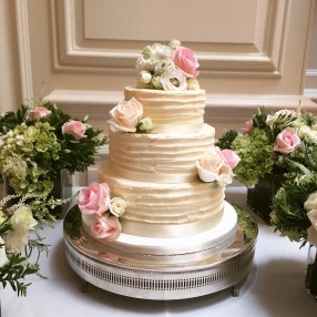 Rustic charm wedding cake at Queensgate in London