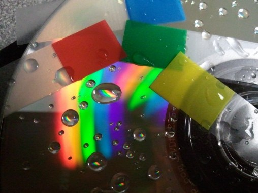 Fuzzy rainbow and colored stickers