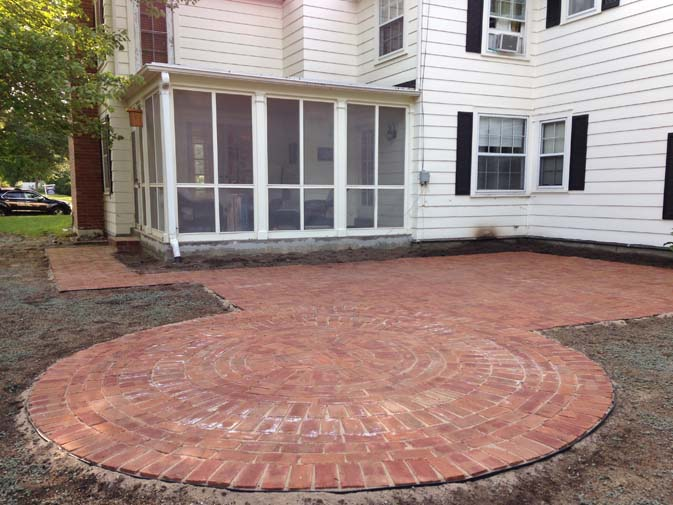 Round Brick After. Patio Before