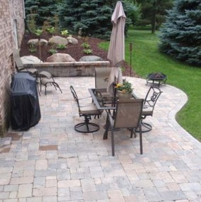 Brick Patio After
