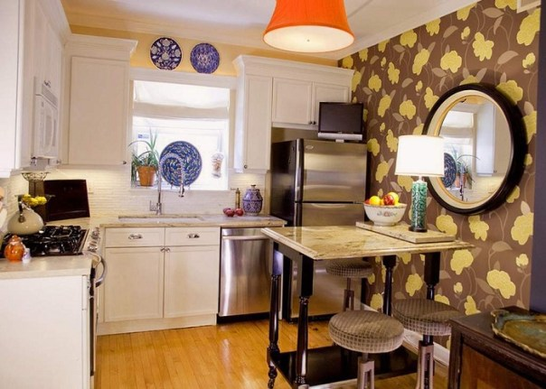 Add Some Wall Paper - Small Kitchen Renovation Ideas 2019 - ET Painting