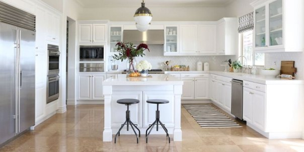 Bright White - kitchen paint colors