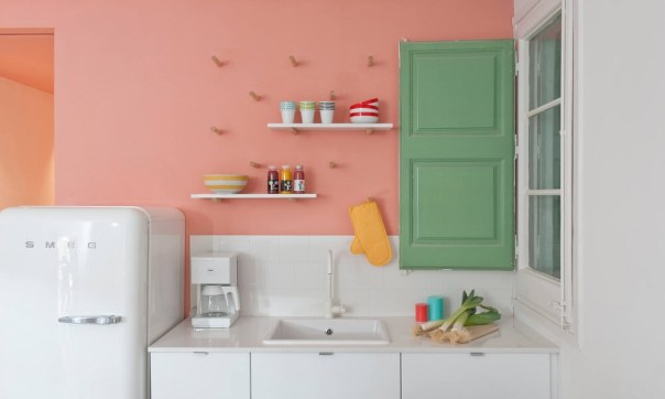 Green and Pink - best paint colors for kitchen