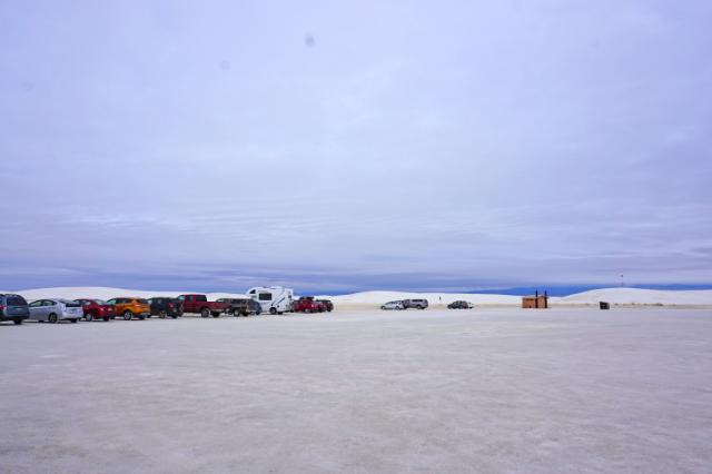 Un stationnement de White Sands