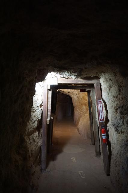 Un couloir dans la mine de Calico