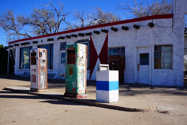 Une station d'essence abandonnée