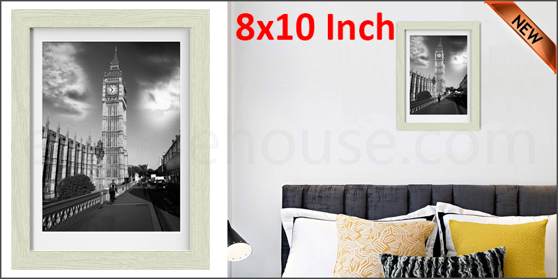 8 x 10 inches wall mounted picture photo poster frame mdf board oak