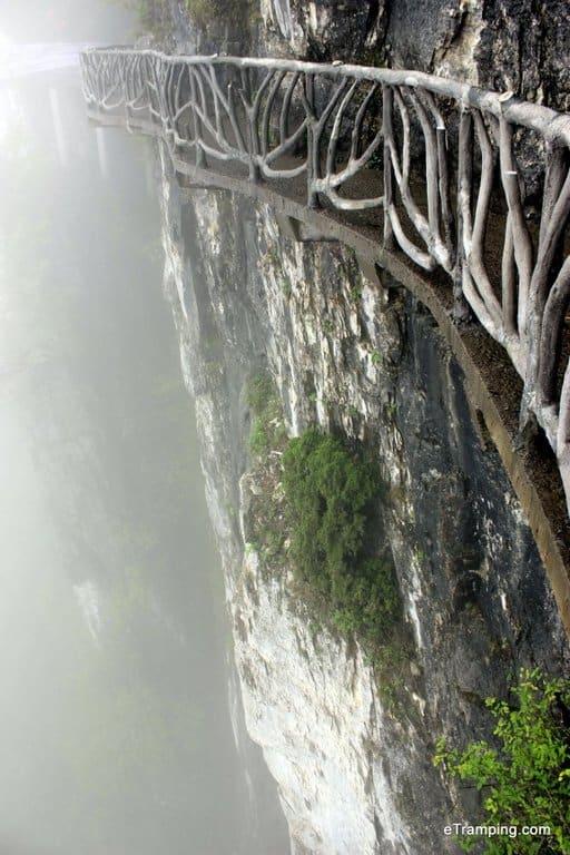 Pathway on the cliff in ZhangJiaJie