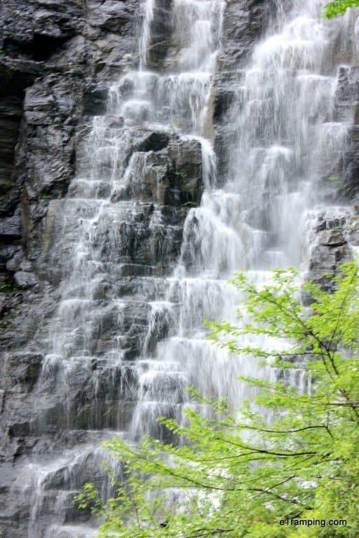 Waterfall next to heaven's gate in ZhangJiaJie