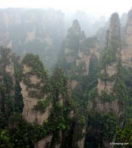ZhangJiaJie view from the top of a rock