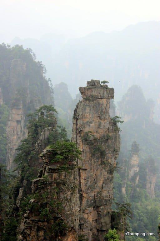 Club-like rocks in ZhangJiaJie