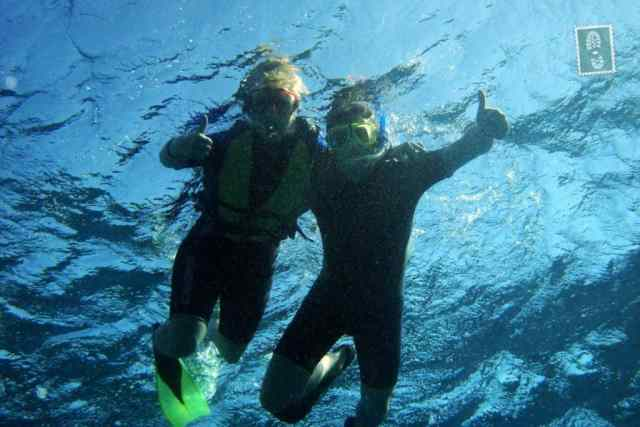 Two People Snorkeling showing it's ok