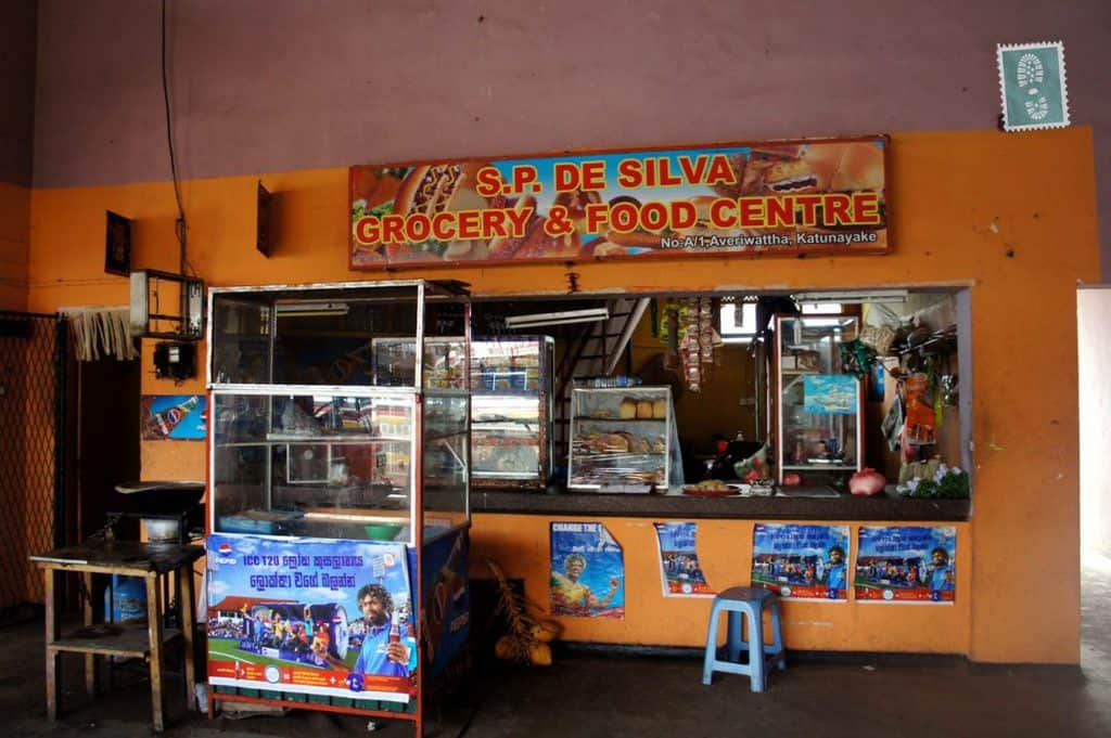 Grocery and food centre a few miles from Colombo airport