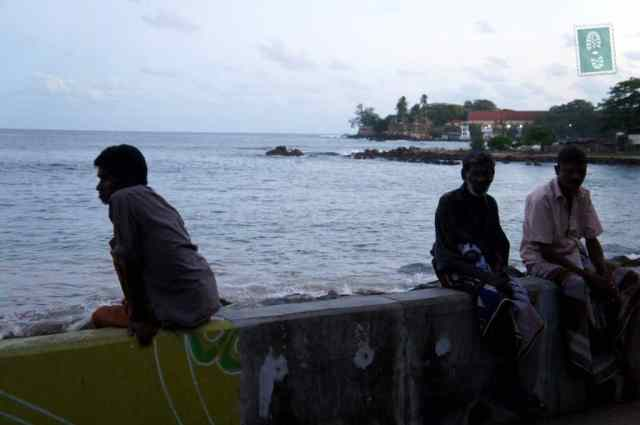 Galle beach locals