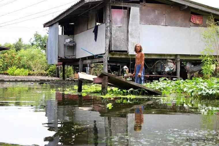 Bangkok river, Thailand, local