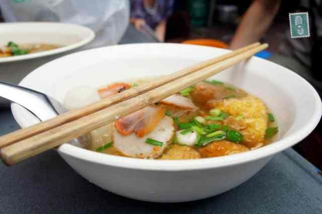Thai soup with chopped meat balls