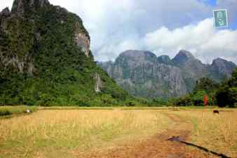 Mountains in Vang Vieng