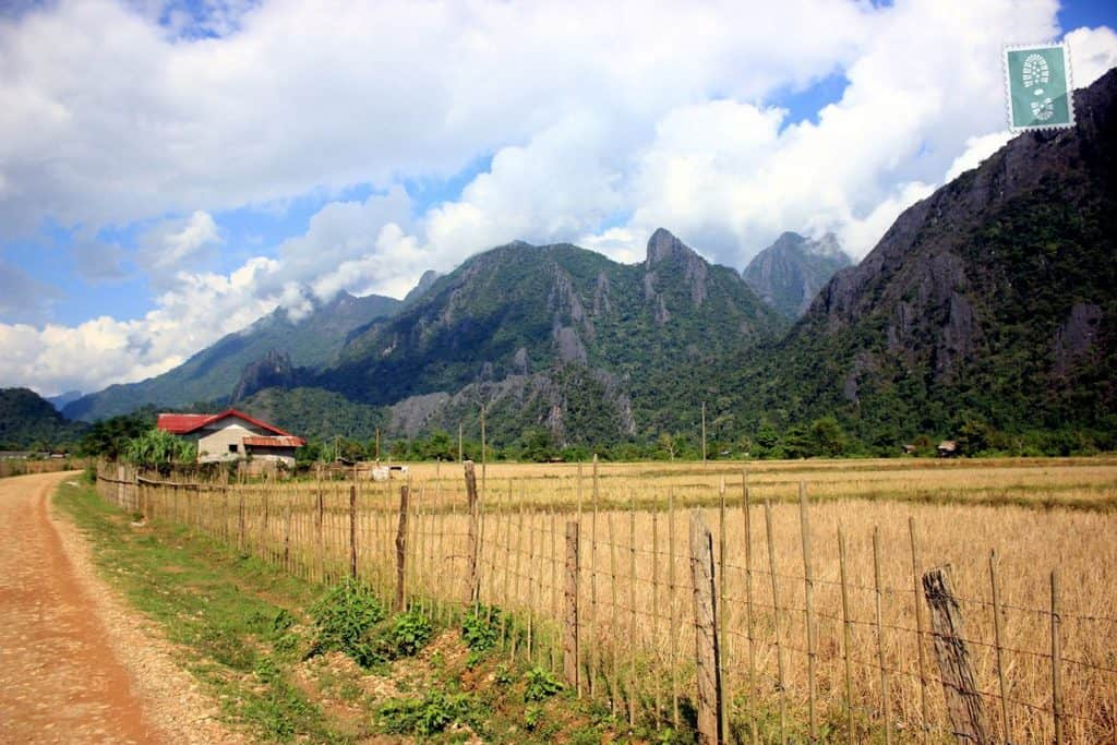 Scenery of Mountains in Vang Vieng