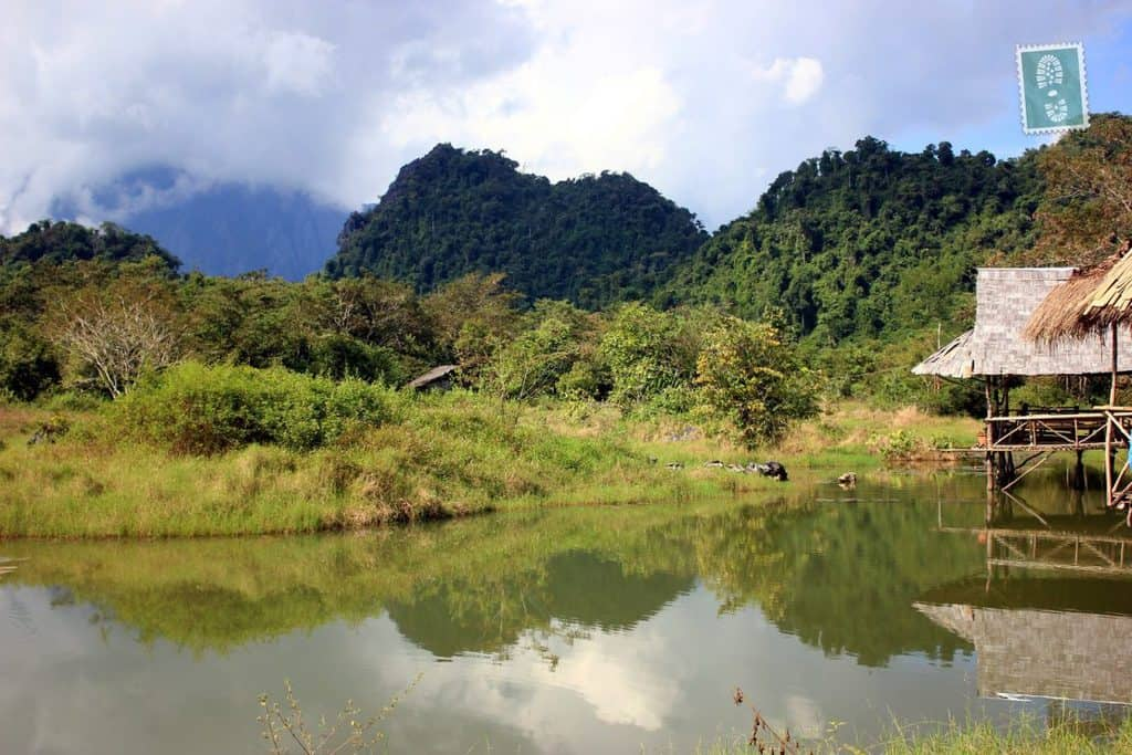 Picturesque surroundings of Vang Vieng
