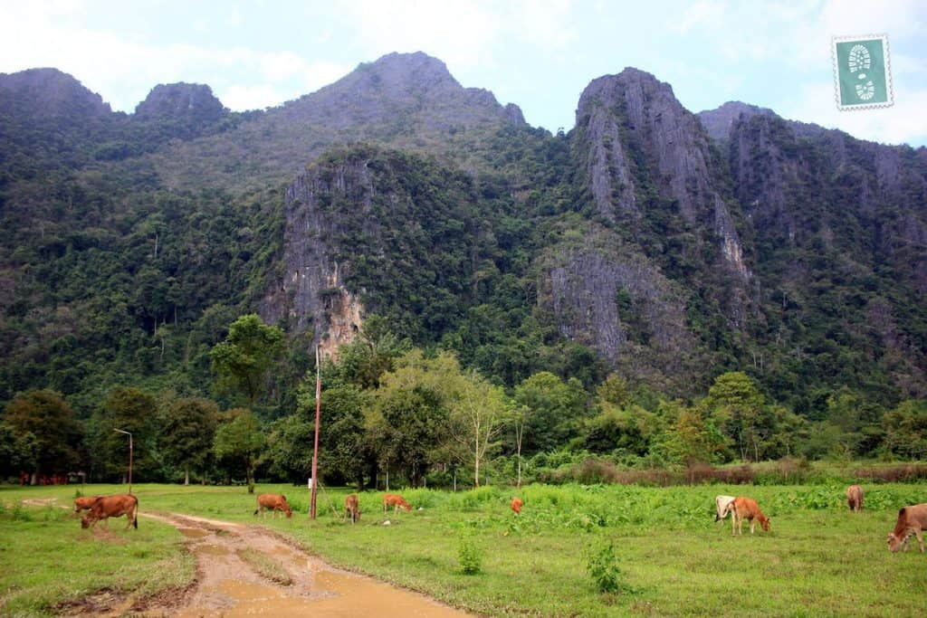 Mountain scenery near Vang Vieng