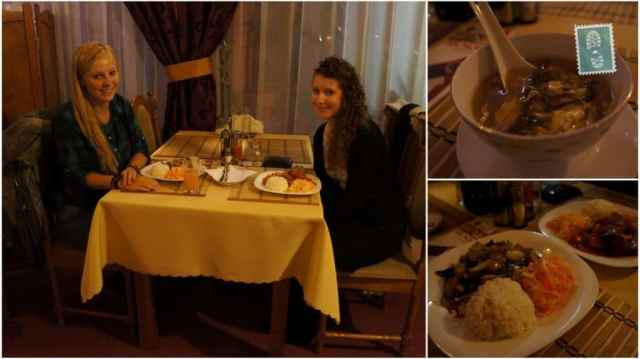 Having a dinner with my best friend Paulina in a Vietnamese restaurant in Wroclaw