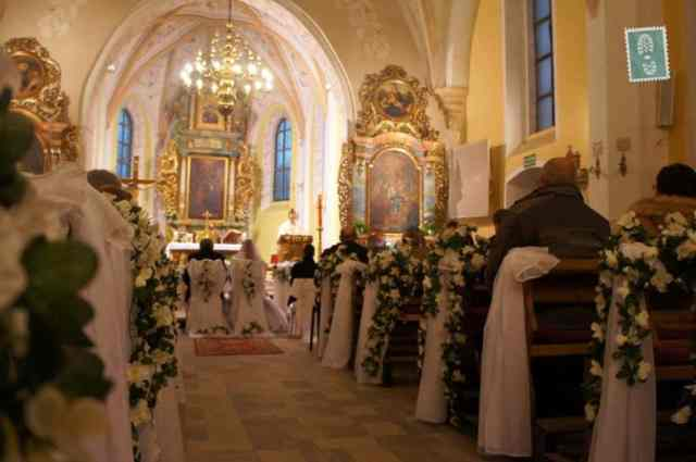 Polish church and wedding