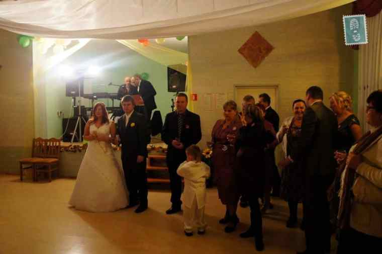 People are making a toast at a Polish wedding