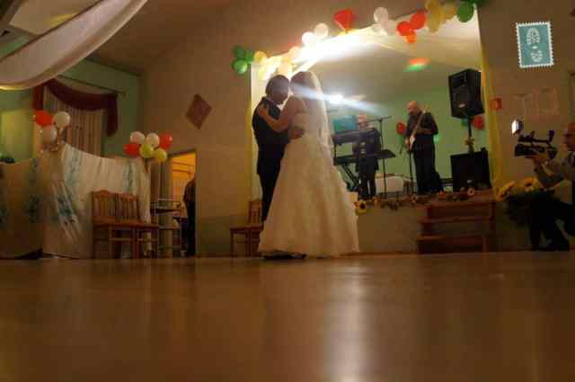 First dance of just married couple