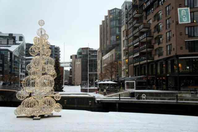 Christmas tree in Oslo