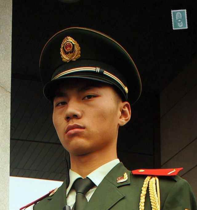 Angry Chinese soldier
