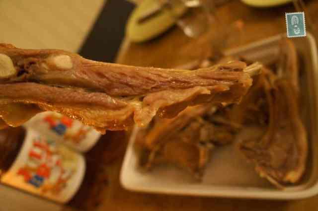 Pinnekjøtt (cured, dried lamb ribs)