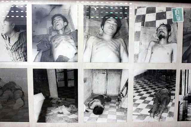A photo of dead people in Cambodia, Phnom Penh