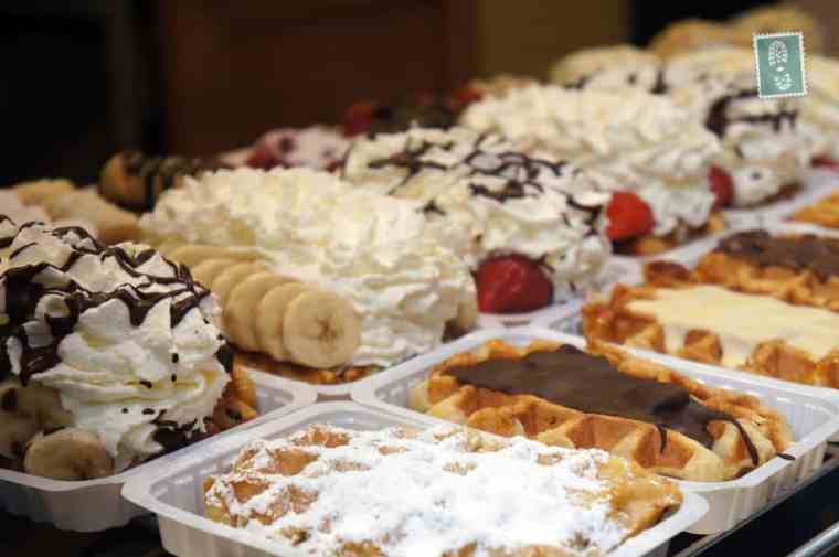 A great selection of Belgian waffles
