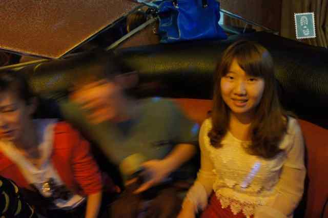Chinese girls singing songs in KTV