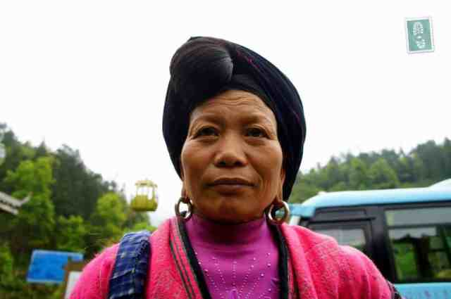 A local lady from Longji