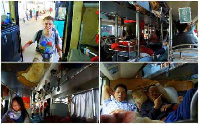Overnight sleeping bus from Dongguan to Guilin