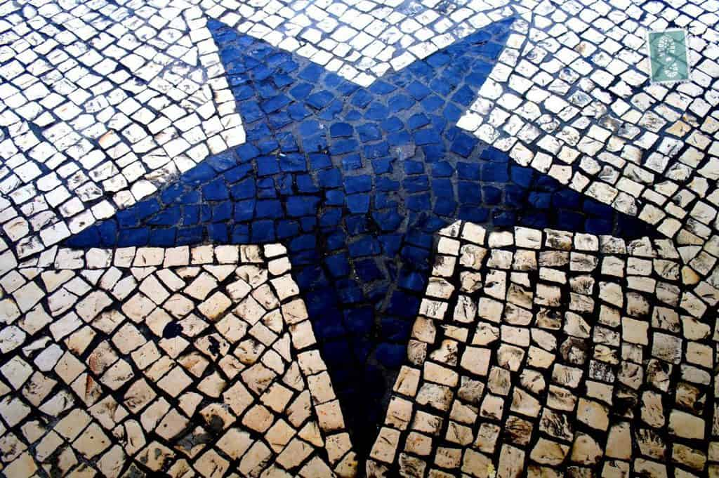 Portuguese style pavement in Macau - Star