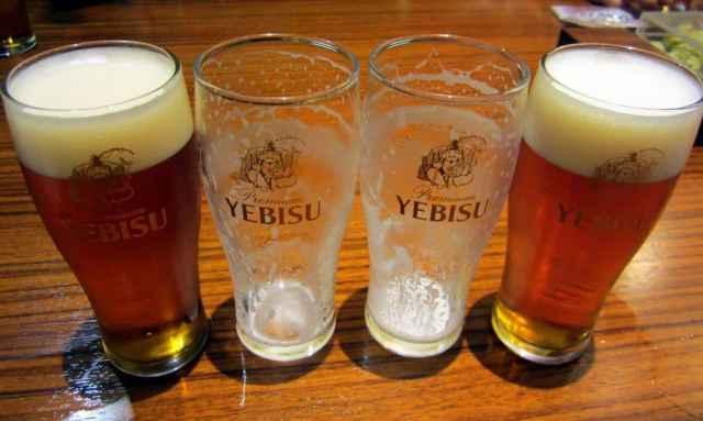 Ebisu factory beer tasting Tokyo