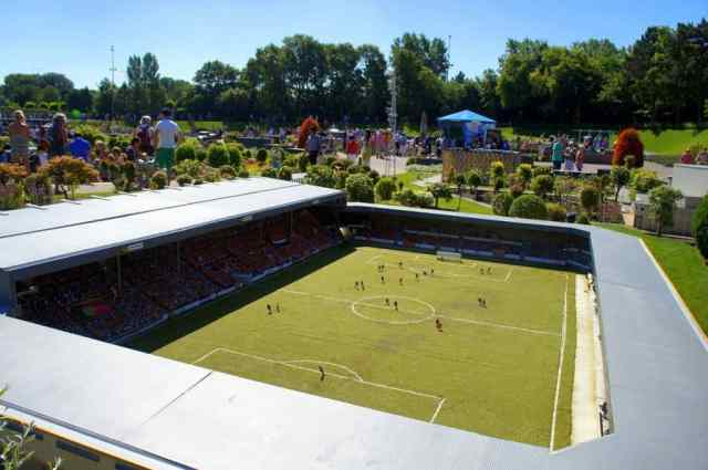 Miniature stadium in Madurodam