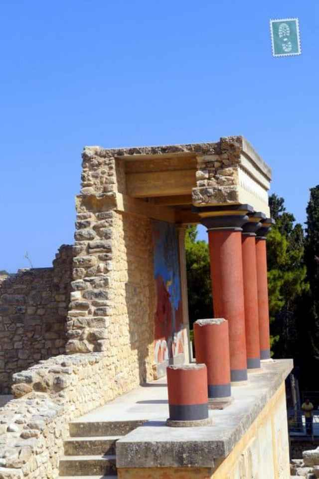 The ancient ruins, the Palace of Knossos