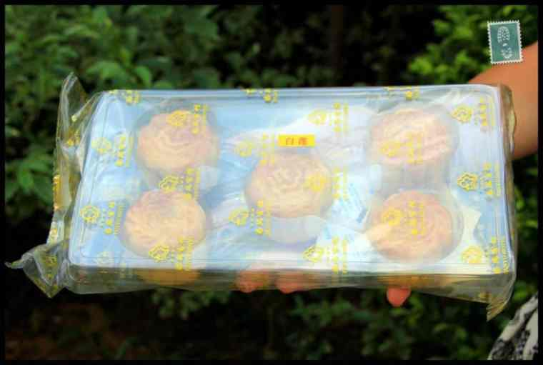 5 small mooncakes wrapped in a bag
