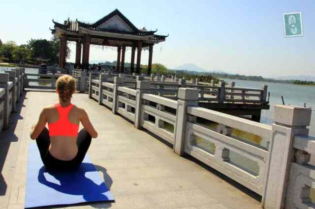 Yoga at Songshan Lake