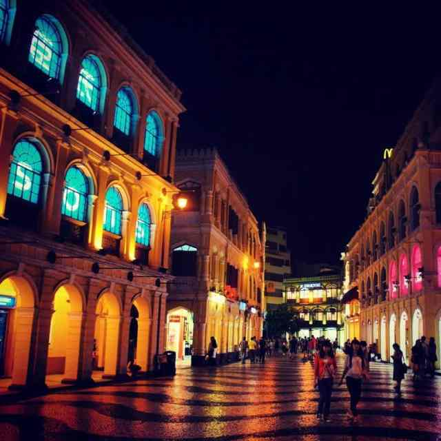 Senado Square Macau at night