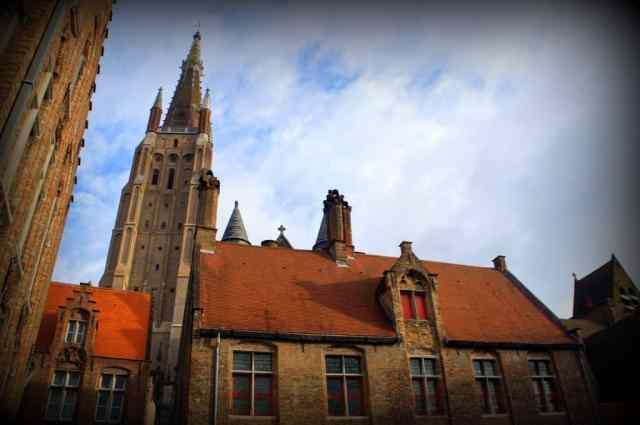 Local church in Bruges