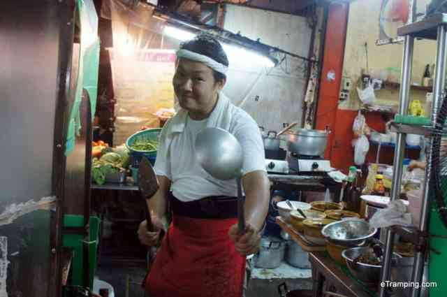 A Thai cook in the kitchen