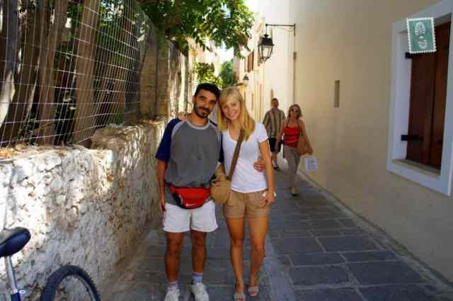 The Greek man who volunteered to show me about Rethymno